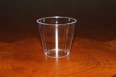 100 Shot Glasses Hard Plastic 1oz Mini Wine Glass Party Disposable Shot Cups Bar 2