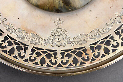 Old Whiting Sterling Silver Plate Reticulated Border w/ Butterfly Insert 6