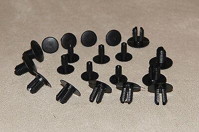 10 x Ford Focus schwarz Kunststoff Nieten Klemme passend Seitenverkleidungen