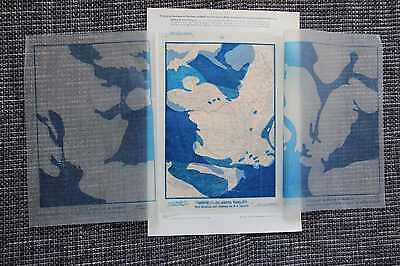 Francia Landmassen Wassermassen en Varios Erdperioden Tarjeta de 1906 3