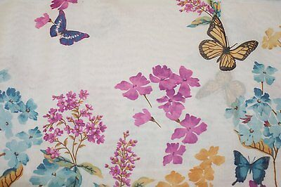 1 Of 3FREE Shipping Butterfly Fabric Shower Curtain Butterflies Multi Color  70x72 Bathroom Tub