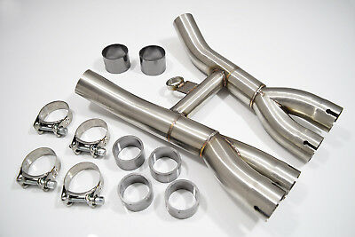 Xjr 1200 Xjr1200 Xjr 1300 Xjr1300 Sp Exhaust Collector Box Stainless Steel New 7