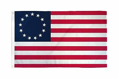 Betsy Ross 3x5 ft Poly Banner Flag- 13 Stars 1776 American Colonial - USA SELLER 2