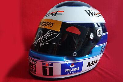 Authentic Mika Hakkinen SIGNED Helmet 1998 2