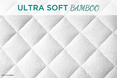 NEW TRU Lite Crib Mattress Protector, white, bamboo, waterproof, hypoallergenic 3