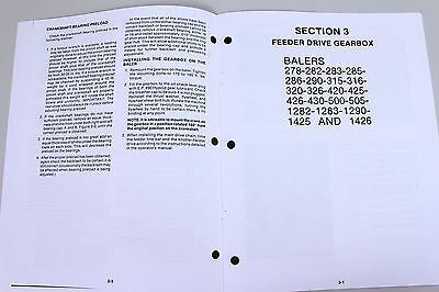 sperry new holland square baler service manual 310 311 315 316 320 rh picclick com New Holland 848 Round Baler John Deere Baler