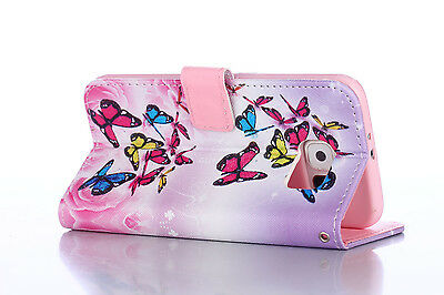 Flip Wallet Pu Leather Case Stand Cover For Samsung Galaxy Phones 6