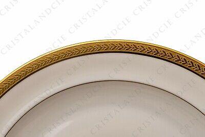 Six assiettes plates incrustations or par Chastanier. Six dinner plates gold 3