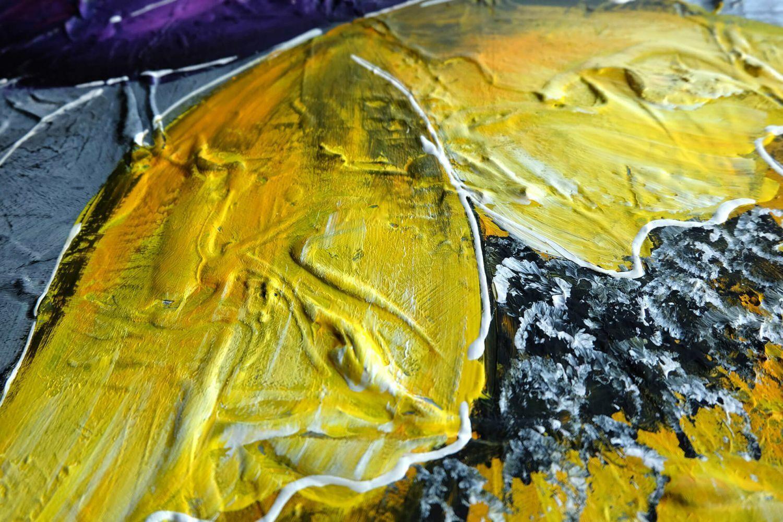 Acryl Gemälde 'COULEUR IM GRAPHIT' | HANDGEMALT | Leinwand Bilder 140x70cm 2