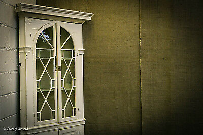 18th Century Painted Glazed Corner Cupboard 6