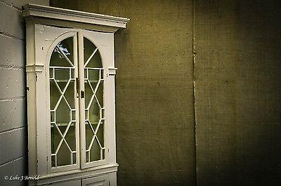 18th Century Painted Glazed Corner Cupboard 6