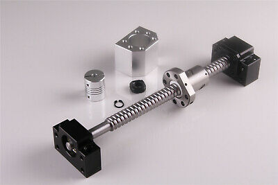 "SFU1605 Rolled BallScrew Kit Length 6""-79"" & Ballnut Housing & Coupler & BK/BF12 2"