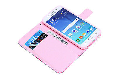 Flip Wallet Pu Leather Case Stand Cover For Samsung Galaxy Phones 3
