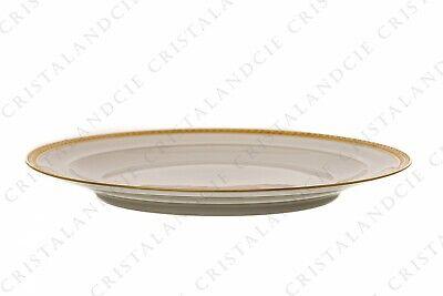 Six assiettes plates incrustations or par Chastanier. Six dinner plates gold 2