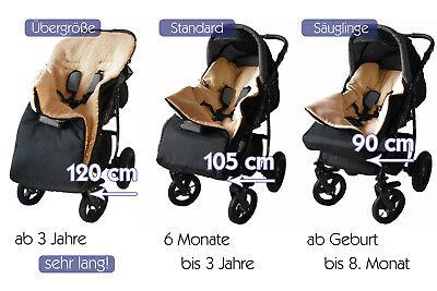 Fußsack KAI 90cm Schurwolle Lammwolle Kinderwagen Winterfußsack Schlitten Buggy 2