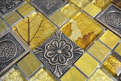 Mosaik Fliese Transluzent perl Kombination schillernd 68-0136P/_f10 Matten
