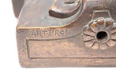 Antique Library Light Figural Cherub Angle Fixture Circa 1910 6