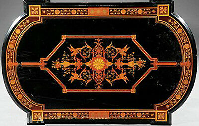 Victorian Marquetry Center Table, c 1865 #7779 5