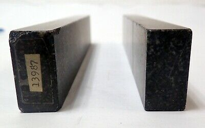 "RAHN PRECISION BLACK GRANITE METROLOGY PARALLELS  9 X 1.5 x 0.75"" 6"