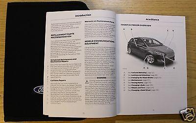 genuine ford focus handbook owners manual wallet