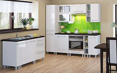 1 Von 3 Küchen Oberschrank Wandschrank Mit Vitrinentür Loara (KL60GW) Holz:  Weiß Hochg