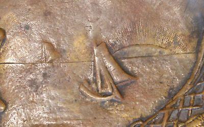 Visitenkarten Schale Jugendstil Bronze Holländerin