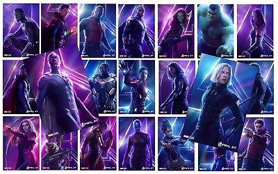 AVENGERS: INFINITY WAR Character Poster Hulk Iron Man Captain America A5 A4 A3 2