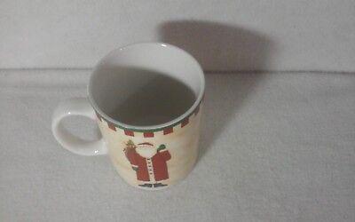 "Folk Art Santas by Debbie Mumm - ZAK Designs - 3-5/8"" Coffee Mug - SET OF 4 MUGS 5"