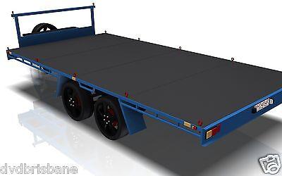 Trailer Plans- 4.8m FLAT TOP TRAILER PLANS- PRINTED HARDCOPY-Car Trailer,Flatbed 2