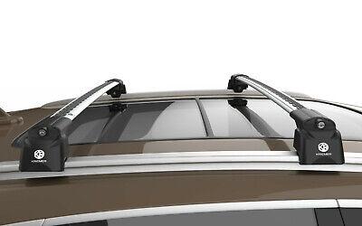 Barre portatutto alluminio nero corrimano integrato Volvo XC60 dal 2013