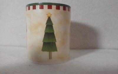 "Folk Art Santas by Debbie Mumm - ZAK Designs - 3-5/8"" Coffee Mug - SET OF 4 MUGS 3"