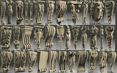 171 PCS 3D STL Model # SUPPORTS STANDS LEGS # for CNC 4 AXLE Engraver Carving 2