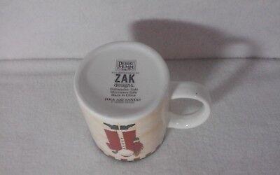 "Folk Art Santas by Debbie Mumm - ZAK Designs - 3-5/8"" Coffee Mug - SET OF 4 MUGS 4"