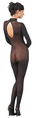 230049 Sexy Ouvert Catsuit Bodystocking Schwarz Offen Ganzkörperanzug Mandy HOT