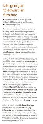 Millers LATE GEORGIAN TO EDWARDIAN FURNITURE, Hearndon, 184000696X, Price Guide 6