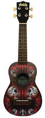 Kala Ukadelic Skulls Soprano Ukulele Multi Colour Uke Free Postage Mk-sskulls Acoustic Guitars String