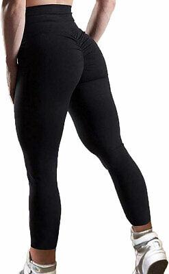Womens Sports Scrunch Butt Lift Push Up Ladies Running Gym Leggings Yoga Pants 2