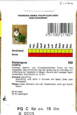 Katzengras - Vitaminreiches Grünfutter für Katzen aus Weidel & Lieschgras Samen 3