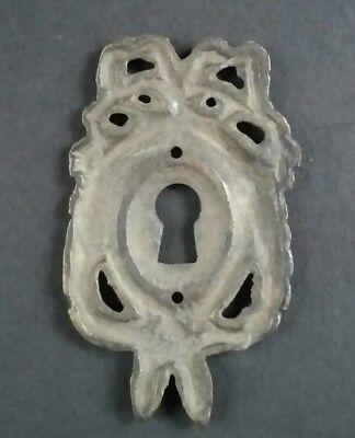 "2 Vintage Antique Style Ornate French Eschutcheons Key Hole Covers 2 1/2"" #E13 5"