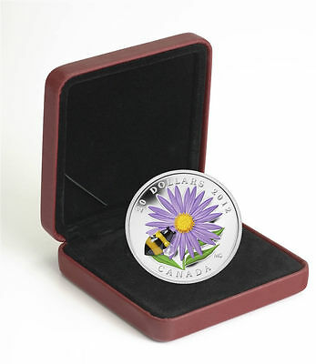 Canada $20 Fine Silver Coin - Aster with Venetian Glass Bumble Bee (2012) 5