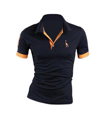 Sommer Herren Slim Fit Poloshirt Hemd Kurzarmshirt Casual Business T-Shirt Tops 5