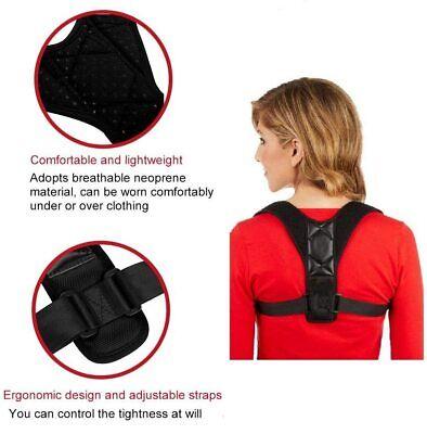 Corrector de Postura espalda unisex,correa ajustable 70 a 110 cm,reduce el dolor 4