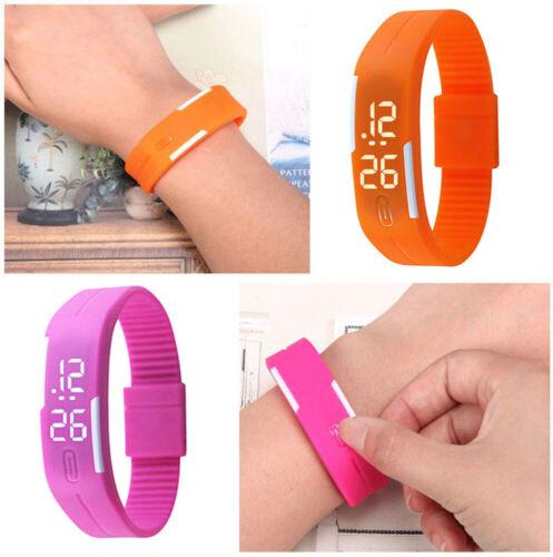 Multifunction LED Sport Electronic Digital Wrist Watch For Child Boys Girls Kids 10
