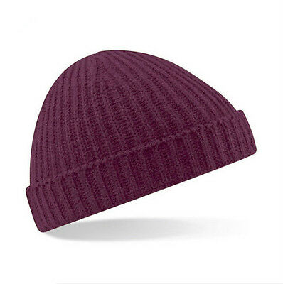 6f3e563709b940 ... Beanie Plain Knit Ski Hat Skull Cap Cuff Warm Winter Blank Colors  Unisex Beany 3