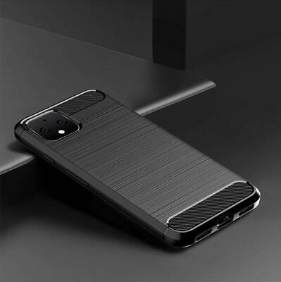 For Google Pixel 4 / XL Cover Carbon Fibre Armour Shockproof TPU Slim Soft Case 5