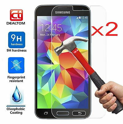 2x Premium Tempered Glass Screen Protector Film Cover For Samsung Galaxy S5 S7 2