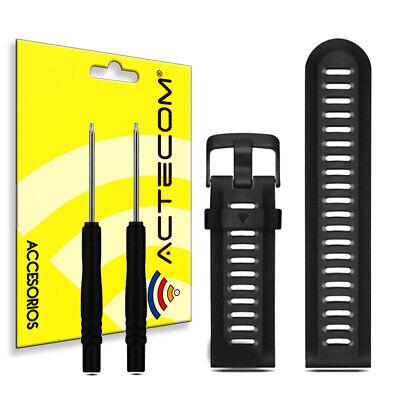 ACTECOM Correa de reloj para Garmin Fenix 3 banda silicona NEGRO Soft Calidad 2