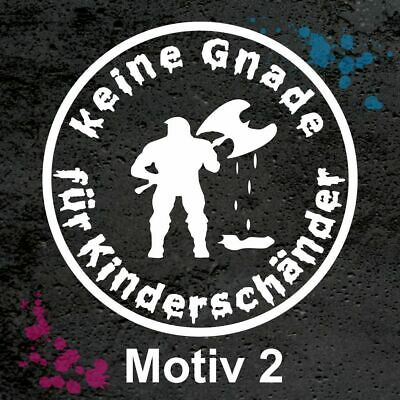 "Stoppt Tierversuche nehmt Kinderschänder /"" Aufkleber Neu Top Fun NR 2"