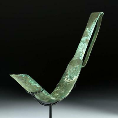 Fine Greek Bronze Strigil Lot 15A