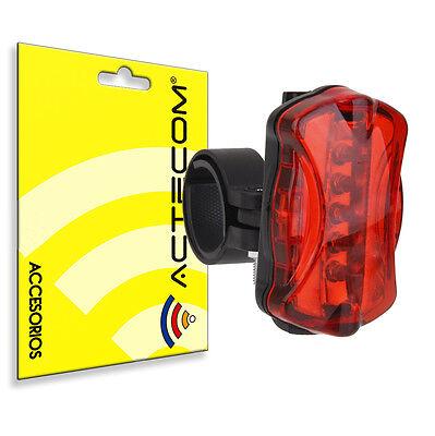 Actecom® Luz Trasera Led Para Fat Bike Bicicleta 6 Modos Luces Seguridad 2